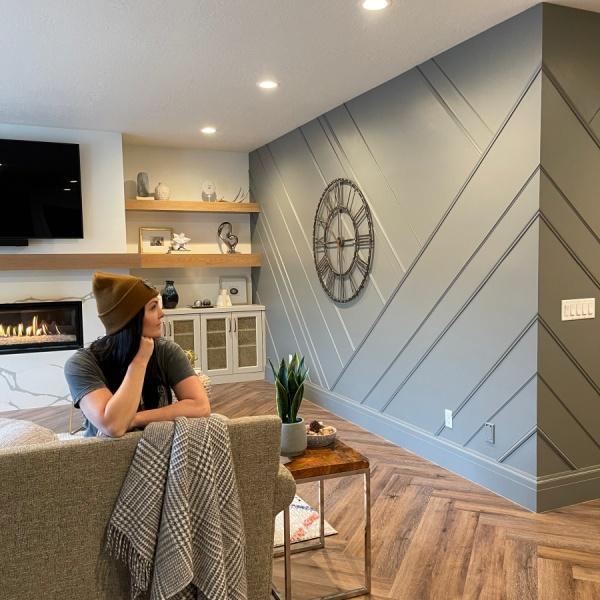 DIY Asymmetrical Accent Wall