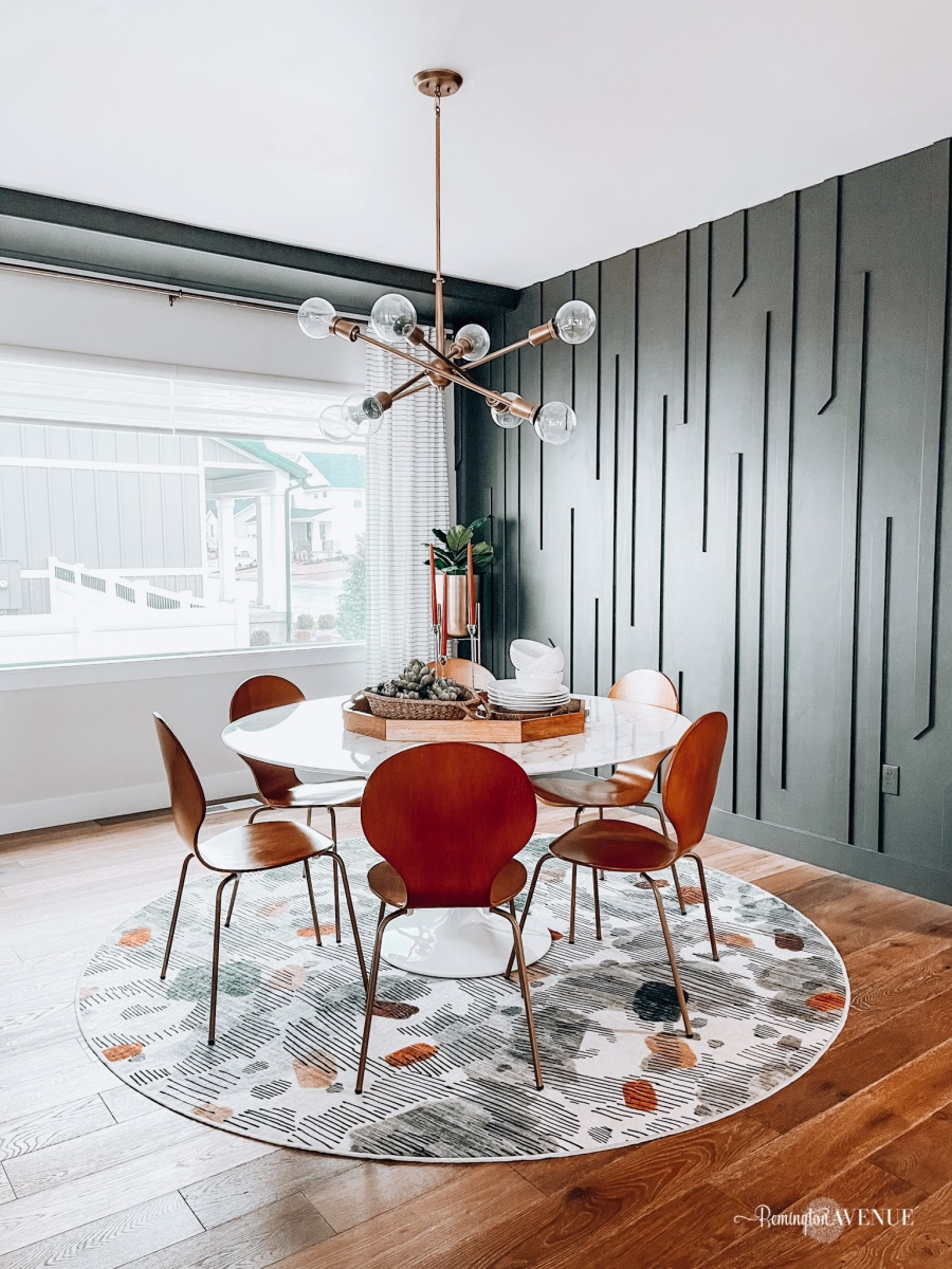 Diy modern midcentury accent wall