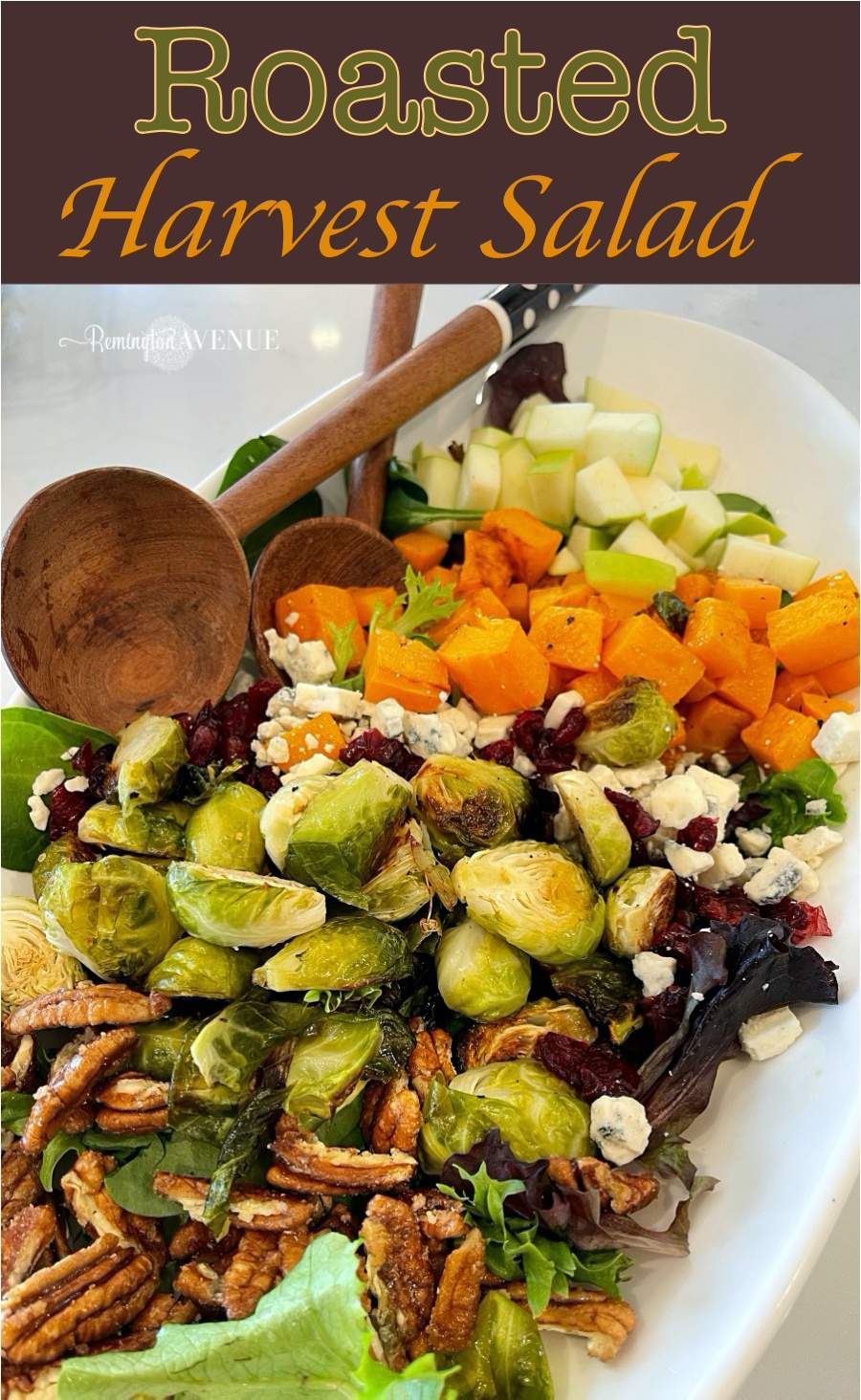 roasted harvest salad with brussel sprouts