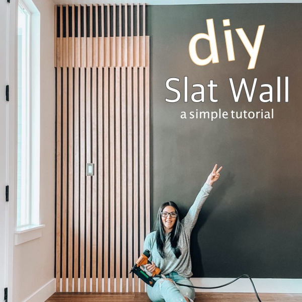 DIY Midcentury Modern Slat Wall Tutorial