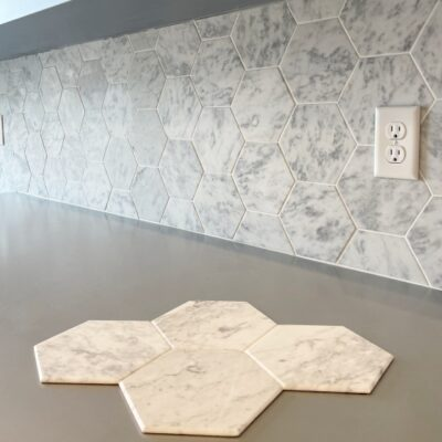 Peel & Stick Marble Tile Backsplash