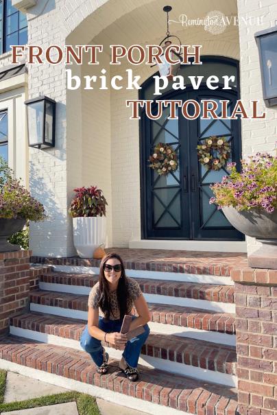 Front Porch Brick Paver Tutorial